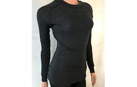 Thermowave Dame trøje merino mørk grå melange
